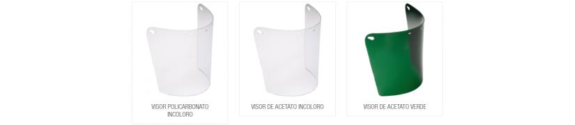 recambios protecciones faciales, láminas de acetato